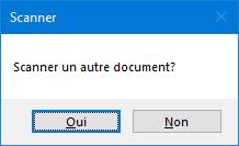 Choix pour l'utilisateur de numériser un autre document